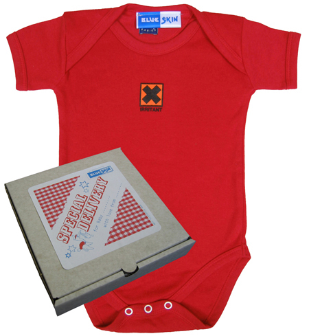 Irritant Baby Bodysuit with Pizza Box